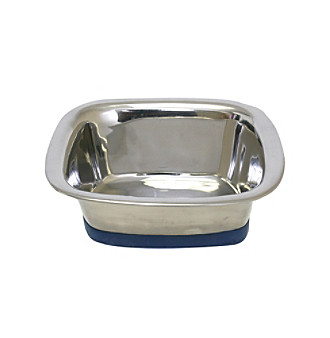 Durapet Slanted Square Steel Pet Bowl