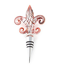 Vintage Royal® Trefoil Red & Silver Foil Bottle Stopper
