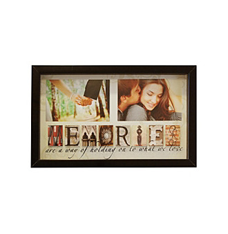"New View Phrases ""Memories"" 2-Opening Sentiment Collage Frame"