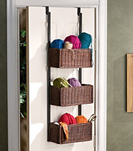 Holly & Martin ™ Hazel Over the Door 3 Tier Basket Storage-Espresso