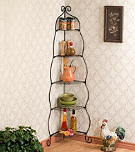 Holly & Martin™ Oakley Black Corner Etagere (Baker's Rack)