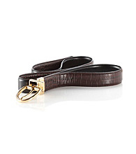 Lauren Ralph Lauren Reversible Texture Belt - Brown/Gold