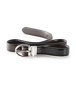 Lauren Ralph Lauren Reversible Texture Belt - Black/Brown