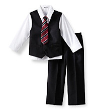 Izod® Boys' 2T-7 Black 4-pc. Dressy Set