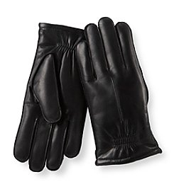 Isotoner® Men's Black Leather Glove