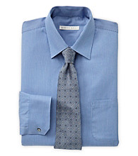 Geoffrey Beene® Men's Big & Tall Neat Sateen Blue Dress Shirt