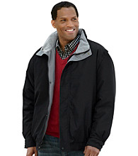 Harbor Bay® Men's Big & Tall Black Microfiber Jacket