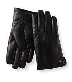 Calvin Klein Men's Black Logo Rivet Gloves