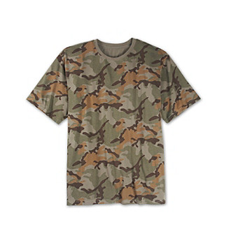 True Nation® Men's Big & Tall Green Camo Screen Tee