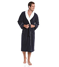 Nautica® Men's Peacoat Anchor Knit Terry Robe