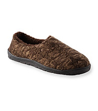 MUK LUKS® Men's Sherpa Lined Marled Cable Slippers