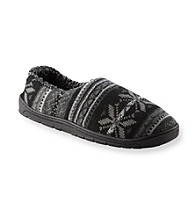 MUK LUKS® Men's Sherpa Lined Fair Isle Slippers