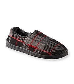 MUK LUKS Men's Sherpa Lined Outdoor Sole Plaid Slippers