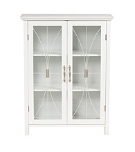 Elegant Home Fashions® Delaney Two-Door Floor Storage Cabinet - White