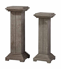 Uttermost Bulan Set of 2 Pedestals