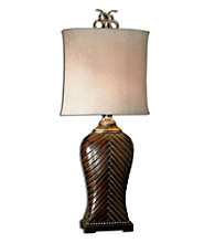 Uttermost Leather Weave Lamp