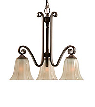 Uttermost Lyon Bronze 3-Light Chandelier