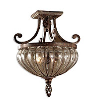 Uttermost Galeana 2-Light Semi Flush Mount
