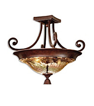 Uttermost Elba 2-Light Semi Flush Mount