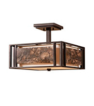 Uttermost Quarry 3-Light Semi Flush Mount