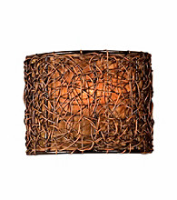 Uttermost Knotted Rattan 1-Light Wall Sconce