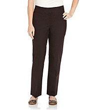 Laura Ashley® Plus Size Wide Waistband Stretch Twill Pants