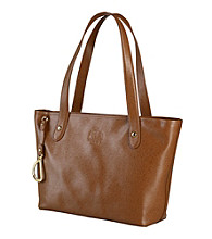 Lauren Ralph Lauren Newbury Leather Shopper - Tan