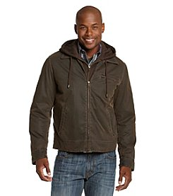 R&O Men's Brown Antique Cotton Hooded Jacket