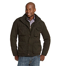 R&O Men's Brown Double Collar Hipster Jacket