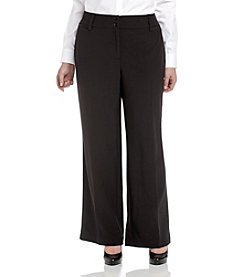 AGB® Plus Size Black Townsend Pants
