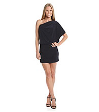 Jessica Simpson One-Shoulder Blouson Dress