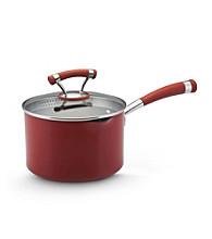 Circulon® Contempo® 3-Quart Red Covered Straining Saucepan