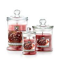 LivingQuarters Ripe Pomegranate Large Layered Jar Candle