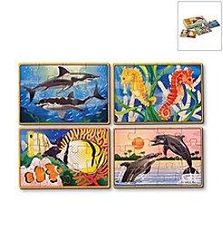 Melissa & Doug® Sea Life Jigsaw Puzzle Box