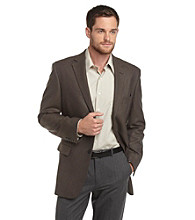 Geoffrey Beene® Men's Brown and Charcoal Check Sportcoat