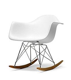 Baxton Studios Letterio Plastic Rocking Chair