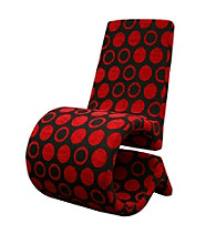 Baxton Studios Forte Patterned Fabric Accent Chair