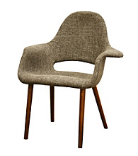 Baxton Studios Forza Taupe Twill Accent Chair