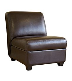 Baxton Studios Dark Brown Fleance Leather Chair