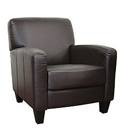 Baxton Studios Stacie Brown Leather Chair