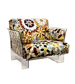 Baxton Studios Pop Chair with Floral Pattern Cushions