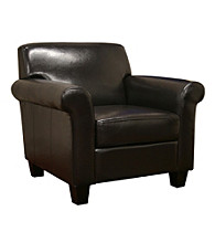 Baxton Studios Atticus Brown Faux Leather Chair