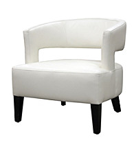 Baxton Studios White Lemoray Leather Chair
