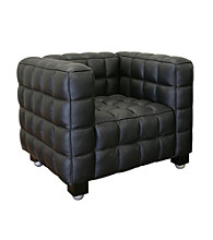 Baxton Studios Black Arriga Leather Chair
