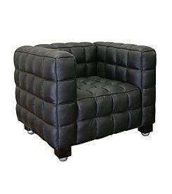 Baxton Studios Black Arriga Leather Chair