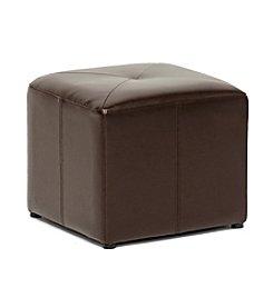 Baxton Studios Pebbles Cube Faux Leather Ottoman