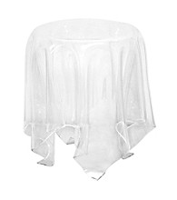 Baxton Studios Blair Acrylic Tablecloth Illusion Table