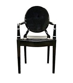 Baxton Studios Dymas Acrylic Armed Ghost Chair