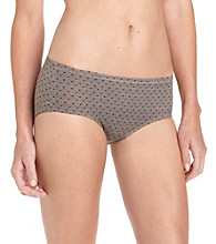 Warner's No Wedgies, No Worries Hipster - Green Lace Dot