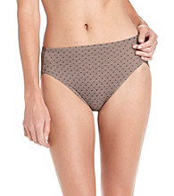 Warner's No Wedgies, No Worries Hi-Cut Briefs - Lace Dot